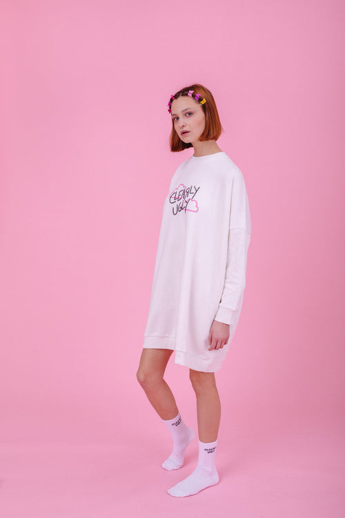 Up In The Clouds Sweater Dress