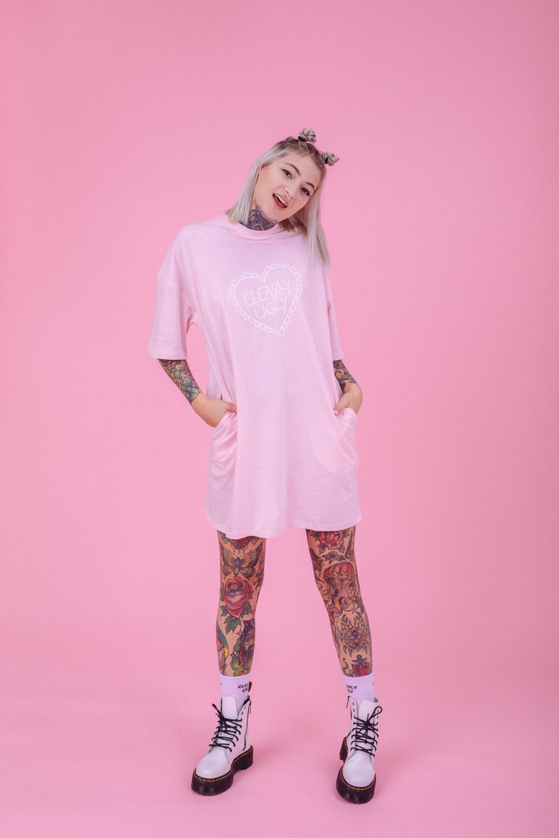 Forever And Always Pastel Love T-Shirt Dress