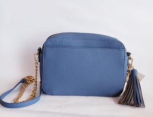 Blue Tassle Crossbody with Gold Chain - Chicoras