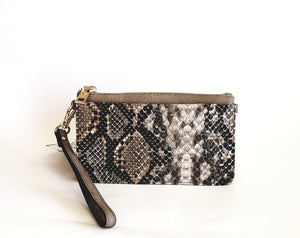 Tan Alligator Wristlet Wallet - Chicoras