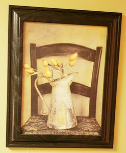 Yellow Tulip Framed Artwork - PICK UP ONLY - Chicoras