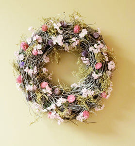 Small Dried Flower Wreath - Chicoras