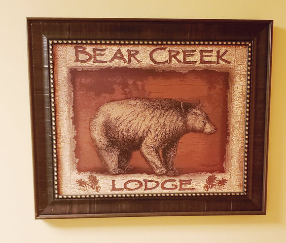 Bear Creek Lodge Framed Art-PICK UP ONLY - Chicoras
