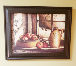 Country Apple Framed Artwork-PICK UP ONLY - Chicoras
