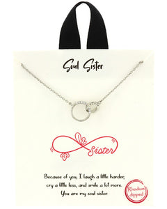Positive Collection Soul Sister Silver Necklace - Chicoras