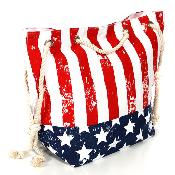 American Flag Beach Bag - Chicoras