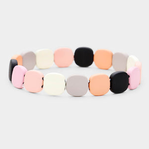 Colorful Wood Stretch Bracelet - Chicoras
