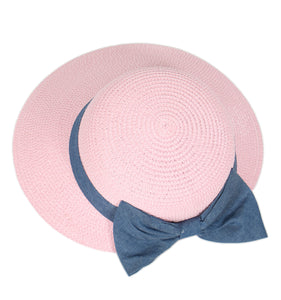 Tan Hat with Blue Bow - Chicoras