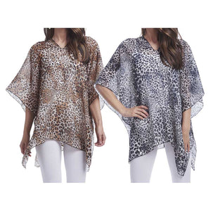 Lightweight Leopard poncho - Chicoras