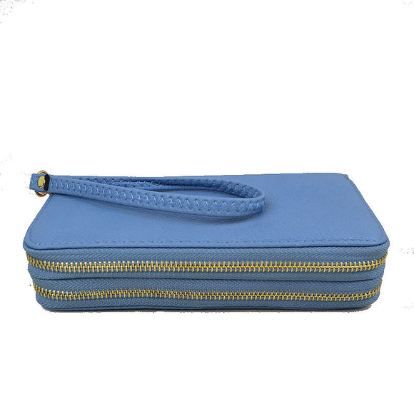 Light Blue Wristlet Wallet - Chicoras