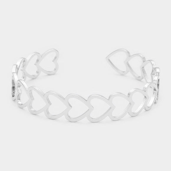 Silver Open Heart Bracelet - Chicoras