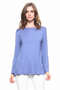 Periblue Long Sleeve Bell Sleeve Top - Chicoras