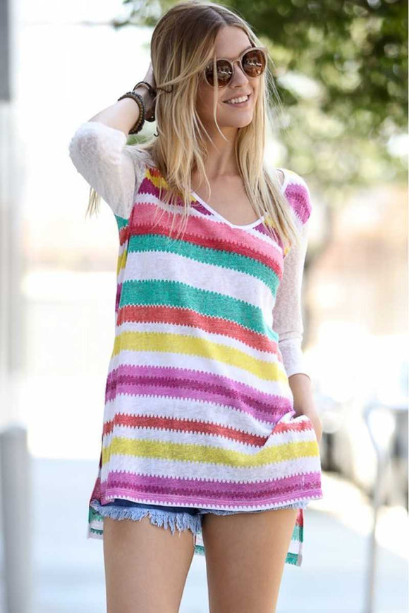 Colorful stripe top - Chicoras