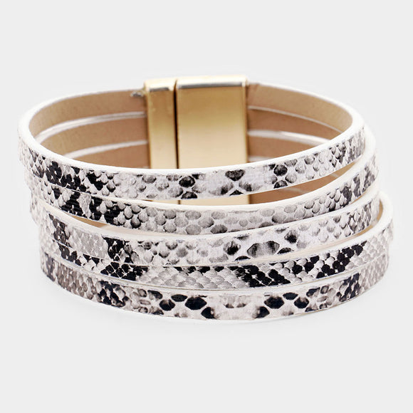 White Animal Print Bracelet - Chicoras