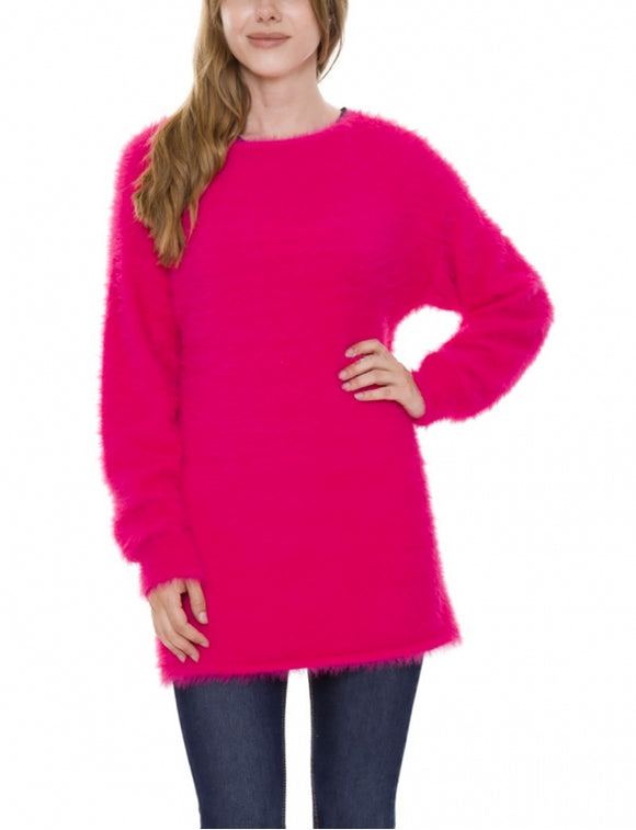 Super soft Furry Oversize Long Sweater - Chicoras