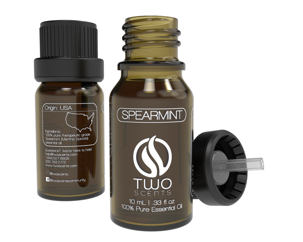 Spearmint 100% Essential Oil Dropper with Cap
