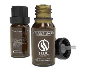 Sweet Basil 100% Essential Oil Dropper with Cap
