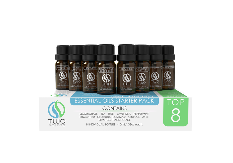 Top 8 Pack 10 mL Essential Oils - Two Scents