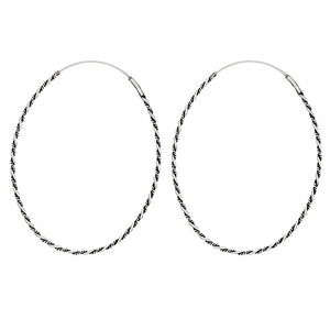 Thin Twist Oval Hoops