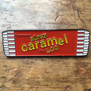 Caramel Log Enamel Pin