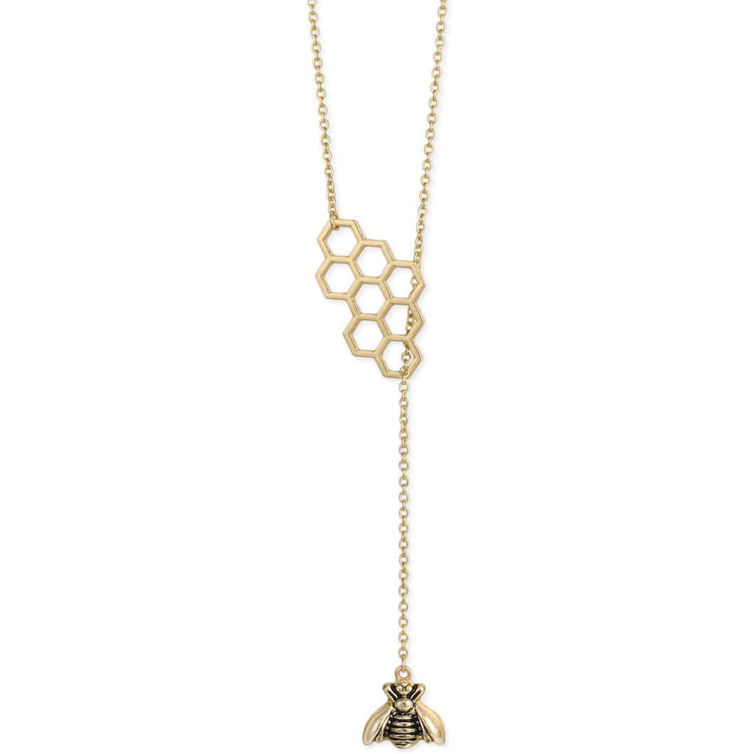 Honey Comb and Bee Necklace