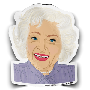 Betty White Sticker