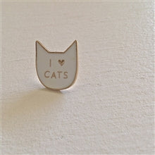 Load image into Gallery viewer, I Love Cats Enamel Pin