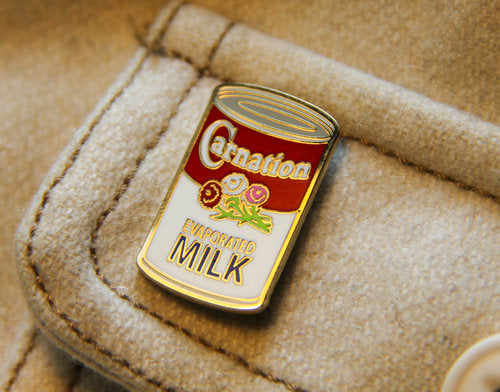 Carnation Milk Enamel Pin