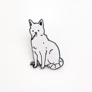 Smoking Cat Enamel Pin