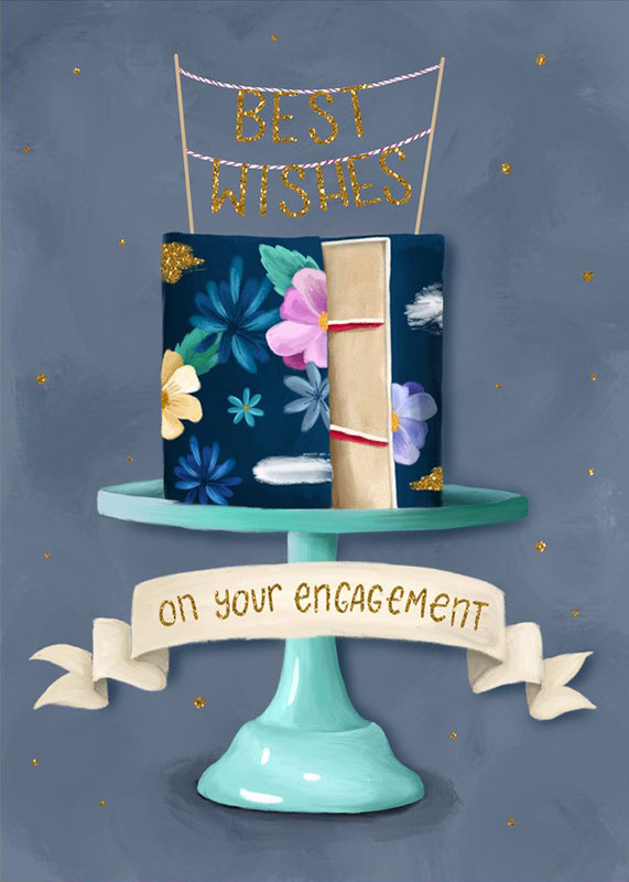 Best Wishes On Your Engagement Card