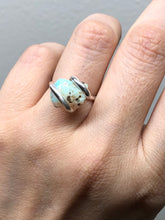 Load image into Gallery viewer, 10% OFF at CHECKOUT - Adjustable Sterling Rough Opal Ring