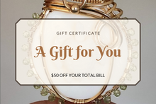 Load image into Gallery viewer, $50 Gift Certificate