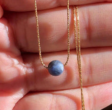"Load image into Gallery viewer, 15% OFF at Checkout-""Ki"" - Sodalite Necklace in 14K Gold filled"