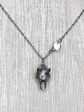 Load image into Gallery viewer, Antiqued Sterling Silver Wolf Pendant