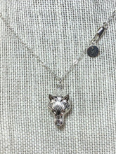 Load image into Gallery viewer, Sterling Silver Wolf Pendant
