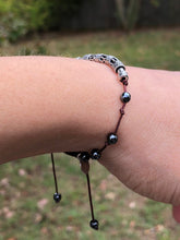 Load image into Gallery viewer, Silver Plated Floating Hematite Bracelet