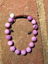 Load image into Gallery viewer, Adjustable Kunzite Mala Bracelet