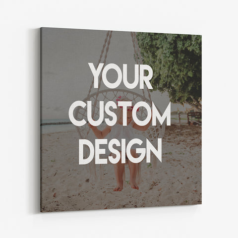 "Personalize Canvas Print, Custom 16"" x 16"" Canvas,"