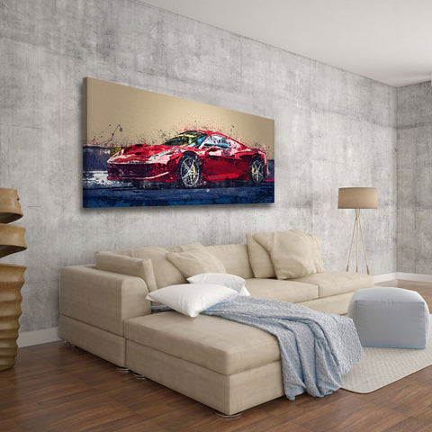 Modern Ferrari Contemporary Wall Art.