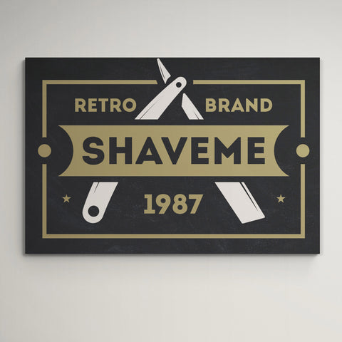 Barbershop Series #4 Since 1987 - Shaveme Wall Art