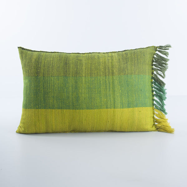 Woollen Cushions - 12x18 Green - Eyaas
