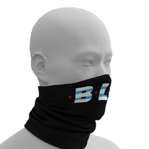 #BLM Black Lives Matter Chicago Flag Face Gaiter Right View PrideMasks.com