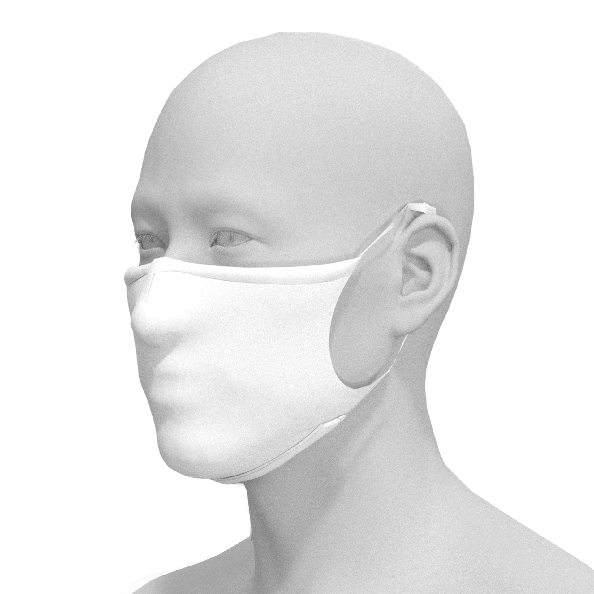 Fitted Solid White Mask