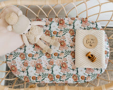 Load image into Gallery viewer, Florence l Bassinet Sheet / Change Pad Cover - Snuggle Hunny Kids - Green Lily
