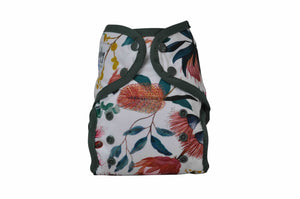 Seedling Baby - Multi-Fit Pocket Nappy - Native Gum - Green Lily