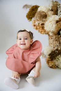 Terracotta Snuggle Bib Waterproof - Snuggle Hunny Kids