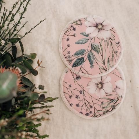 Re-usable Breast Pads - WILDFLOWERS- My Little Gumnut - Green Lily