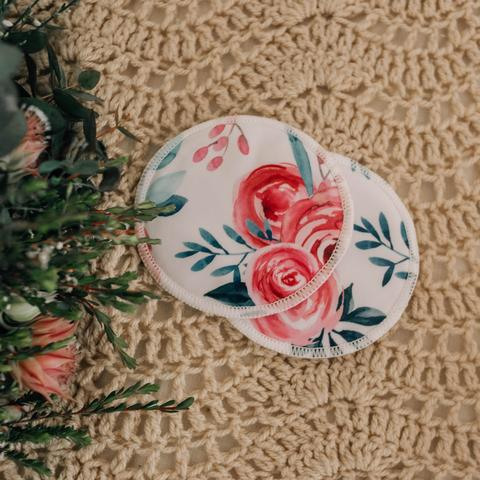 Re-usable Breast Pads - ROSES - My Little Gumnut