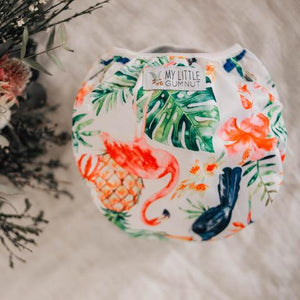 My Little Gumnut - TROPICAL OASIS - swimming nappy (3-18months)