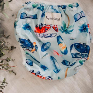 My Little Gumnut - SURFS UP- swimming nappy (18-36months) - Green Lily